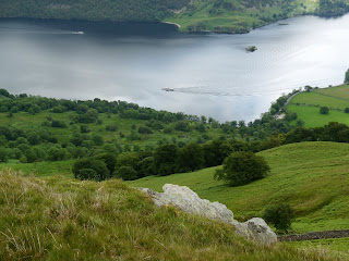 Ullswater from Brown Hills - The Streamers can been seen making their way in opposite directions.