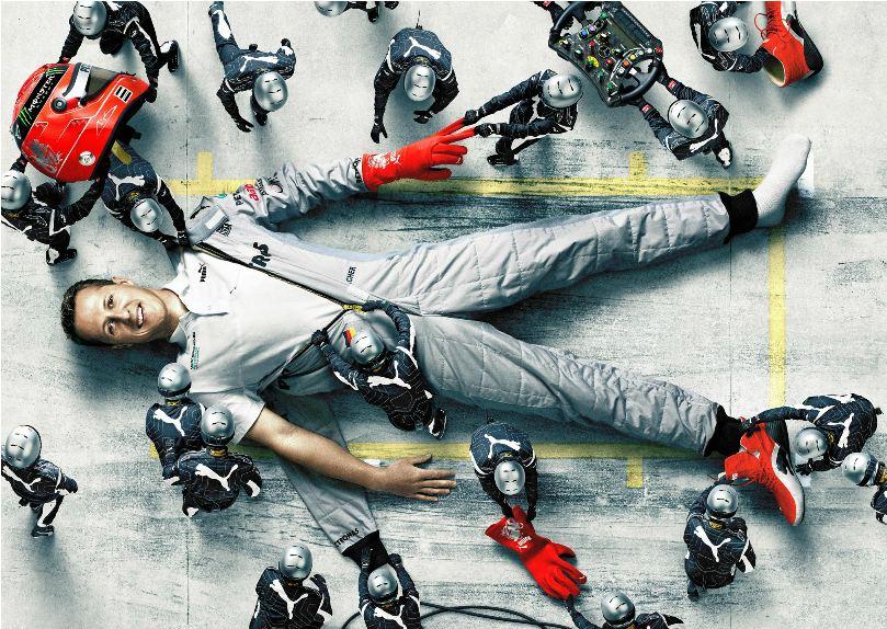 Михаэль Шумахер на пит-стопе Puma