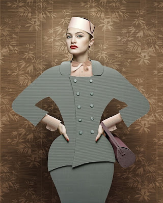 Portraits of Ladies in Cardboard Outfits Seen On www.coolpicturegallery.us