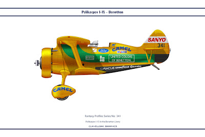 Polikarpov I-15 in the Benetton Livery