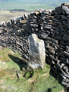 Another Boundary Stone - This time next to wall on Pendle Hill
