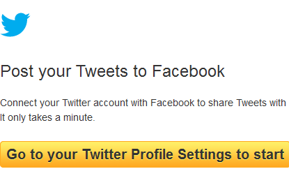 How to send tweets to Facebook status