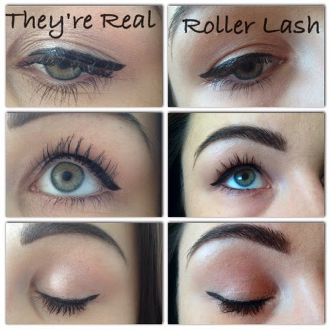 High End Make-up Girl: Benefit : They're Real vs Roller Lash