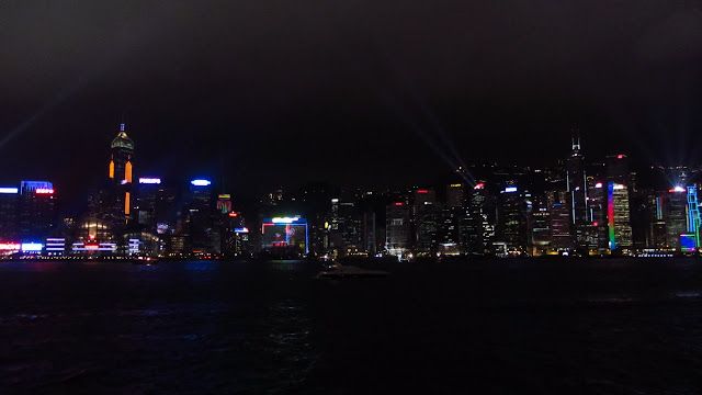 The Symphony of Lights as seen from Tsim Sha Tsui, Kowloon.