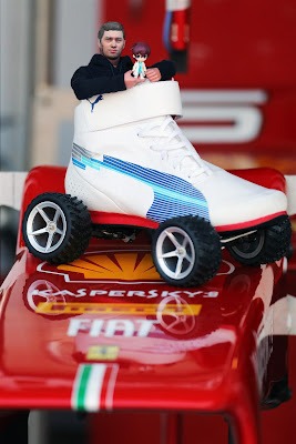 Ferrari и Puma на колесах с Томитой на Гран-при Японии 2012