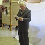Urbán Gyula, író, költő, bábrendező beszéde a megnyitón