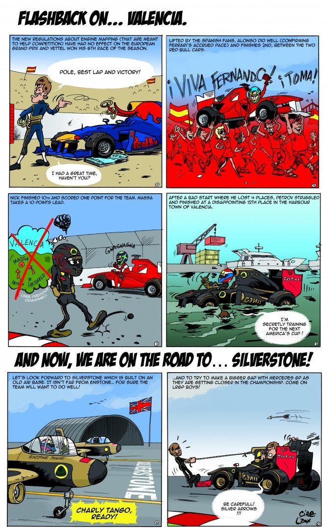 Комикс от Cirebox: Превью Гран-при Великобритании 2011