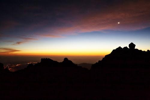 Svítání na úbočí Teide