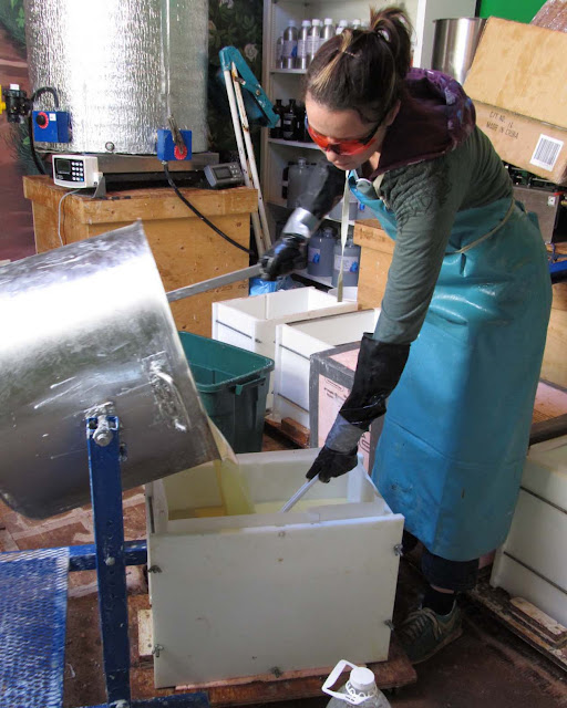 Pouring into a 100Lb Mold 2