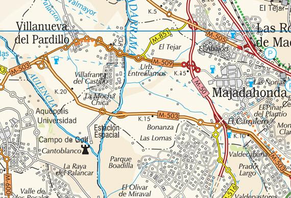 Mapa de carreteras de la Comunidad de Madrid, edición 2015
