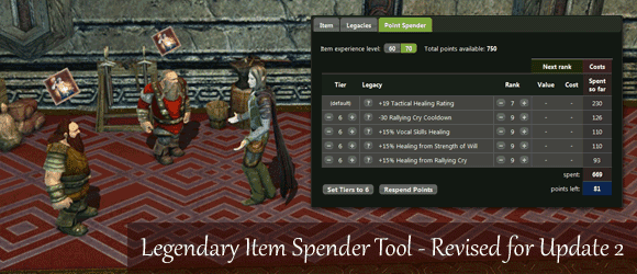 Legendary Item Spender Tool