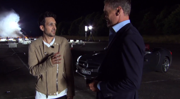 Magic Man Dynamo Blows David Coulthard's Mind in a Mercedes-Benz SL63 AMG Stunt