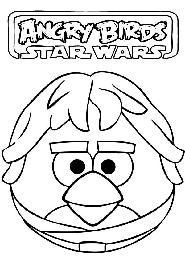 Angry Birds Star Wars Coloring Pages Crayons Angry Best