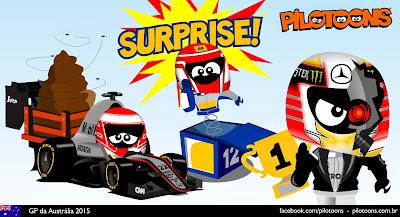 комикс pilotoons по Гран-при Австралии 2015
