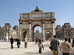The mini Arc in the Tuileries; you can see the Louvre courtyard in the background
