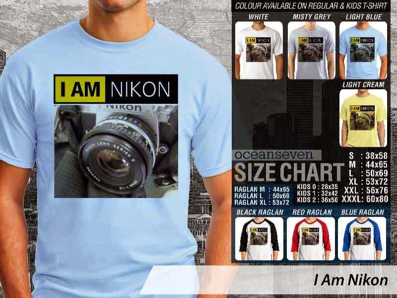 Kaos Photography Mania I Am Nikon distro ocean seven