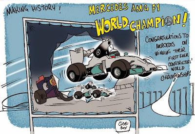 Mercedes выигрывает кубок конструкторов - комикс Cirebox