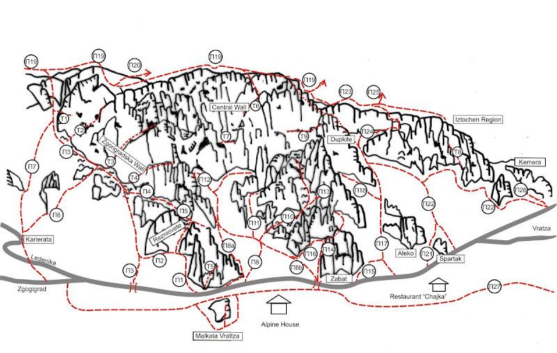 Vratsa - THE CORNERS (6+, 5+ A1, 7lc) - Central Wall