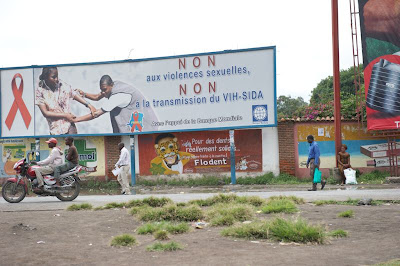 Billboard in Goma