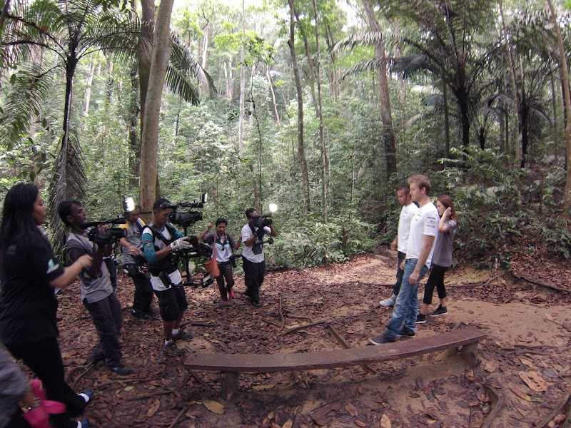 Льюис Хэмилтон и Нико Росберг в тропическом лесу Малайзии