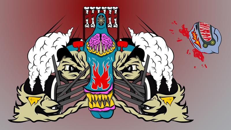 рисунок Red Bull монстр by whyth3f4c3