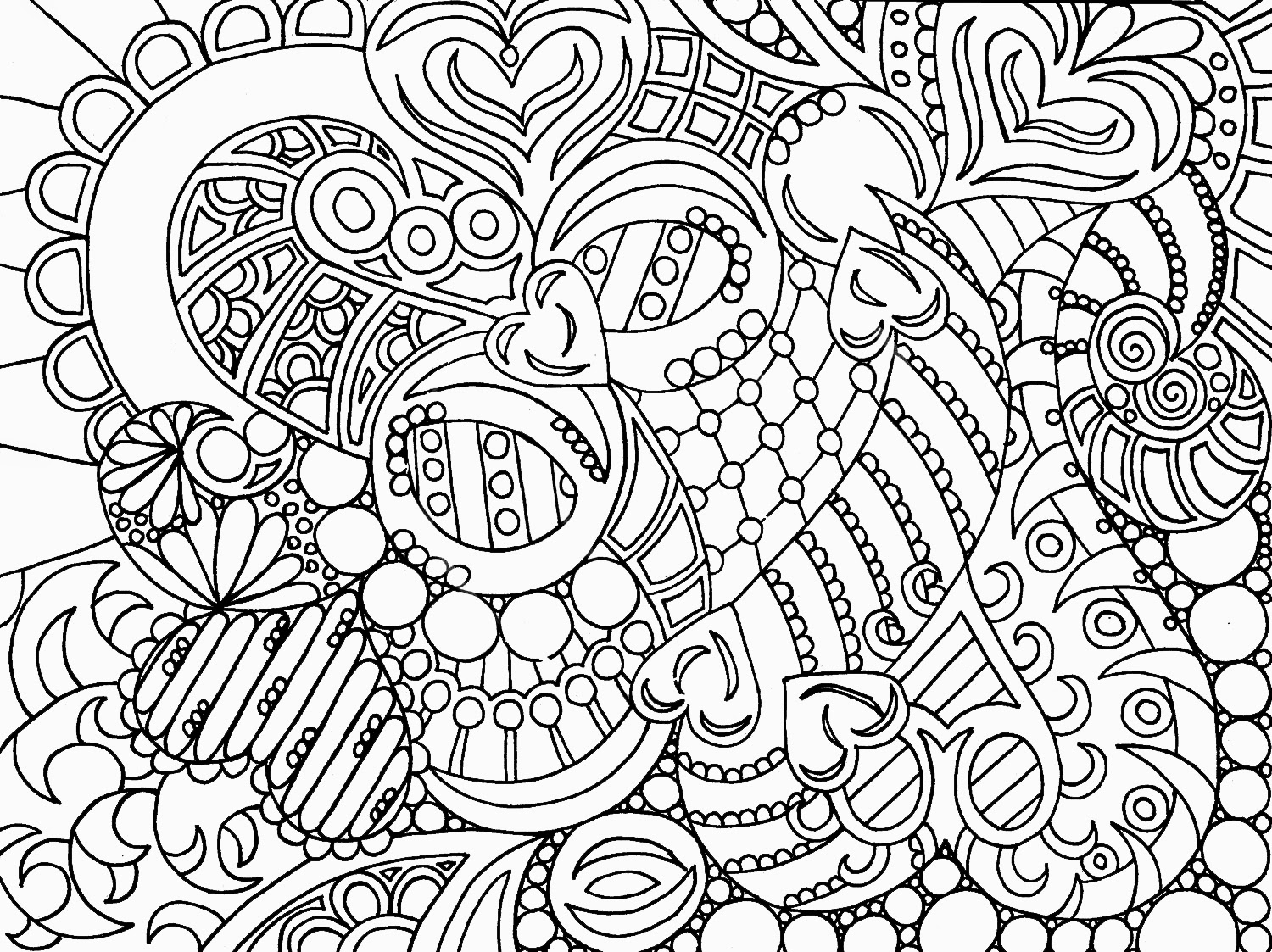 heart coloring pages for adults - Valentine's Day Coloring Pages