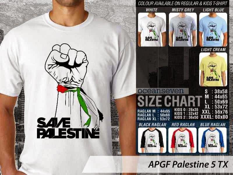 Kaos Muslim Islam Palestine 5 distro ocean seven