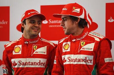 Фелипе Масса и Фернандо Алонсо на Гран-при Китая 2012