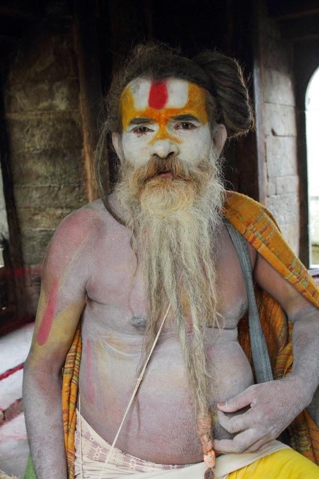 Sadhu who lives near Pashupatinath Temple, Kathmandu, Nepal