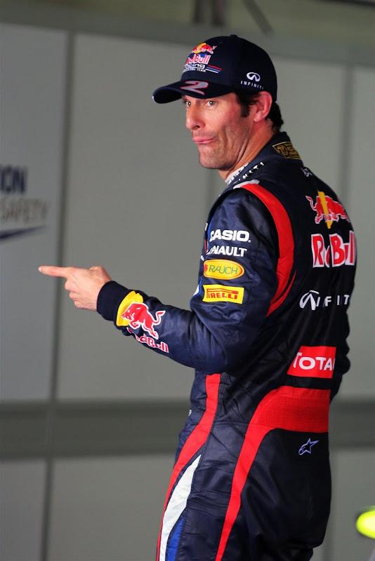 Марк Уэббер побеждает в квалификации на Гран-при Кореи 2012