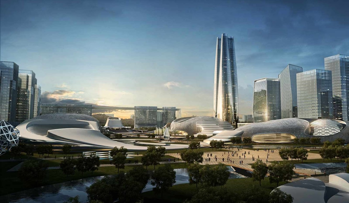 Yichang New District Master Plan by AmphibianArc