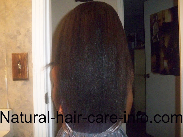 how to straighten your natural hair