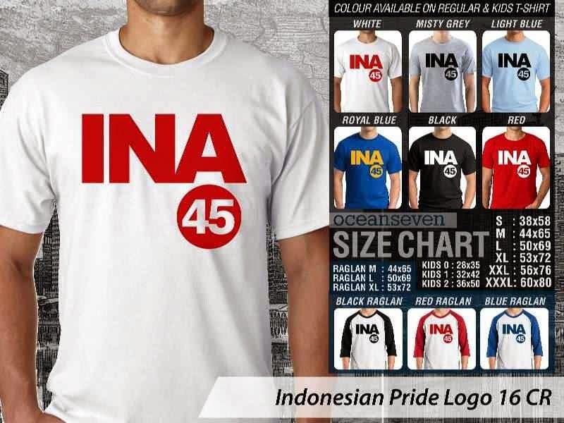 KAOS INA 45 Indonesian Pride Logo 16 distro ocean seven
