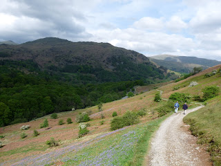 Looking back along Loughrigg Terrace. Nab Scar is in the shade.