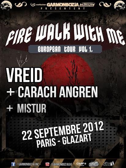 Mistur / Carach Angren / Vreid @ Glaz'Art, Paris 22/09/2012