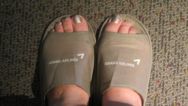 Asians sure do love their slippers!