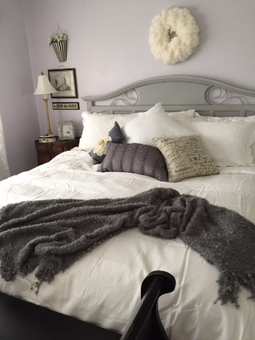 The Style Sisters Grey Master bedroom makeover Annie Sloan