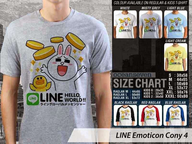 KAOS IT LINE Emoticon Cony 4 Social Media Chating distro ocean seven