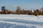 Park am Gleisdreieck im Winter