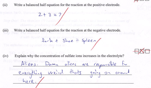 Question about balanced half equation