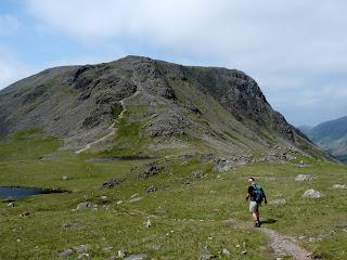 Richard strides off towards Kirk Fell.