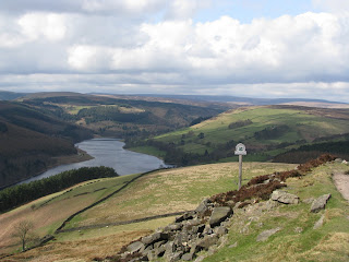 Ladybower Reservoir from below Whinstone Lee Tor