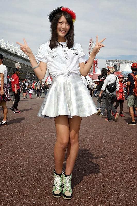 Nico Mana в паддоке Сузуки на Гран-при Японии 2014