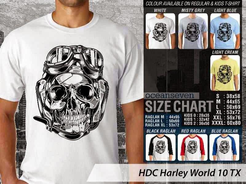 Kaos Motor Harley Davidson World 10 distro ocean seven