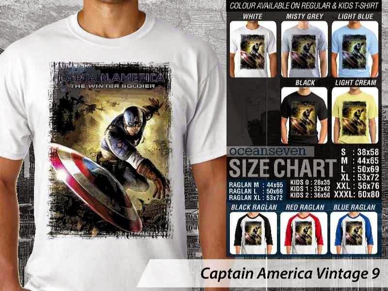 KAOS Captain America 9 Vintage distro ocean seven