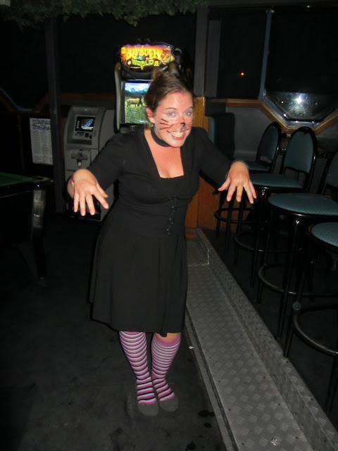 Heather's kitty-cat Halloween costume.