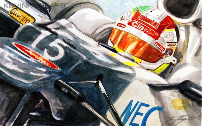 Серхио Перес Sauber C31 - картина Kevin Paige