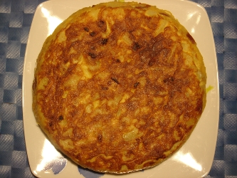 Tortilla de patata en microondas