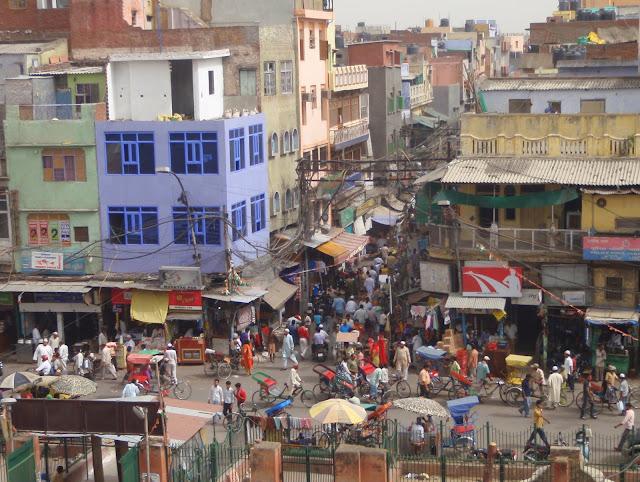 Hustle and bustle of old Delhi