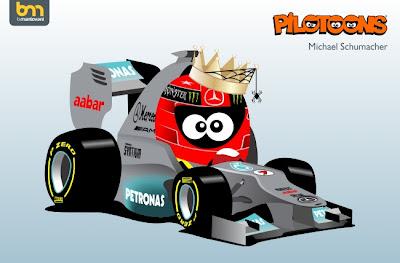 Михаэль Шумахер Mercedes pilotoons 2012